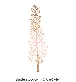 Hand drawn vector illustration of laurel branch