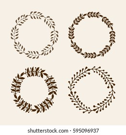 Hand drawn vector illustration - Laurels and wreaths. Design elements for invitations, greeting cards, quotes, posters and more. Perfect For Wedding Frames.