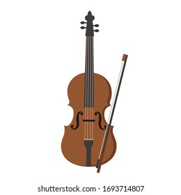 Hand drawn vector illustration of a violin