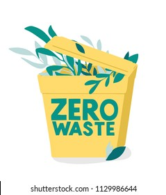 hand drawn vector illustration of zero waste concept