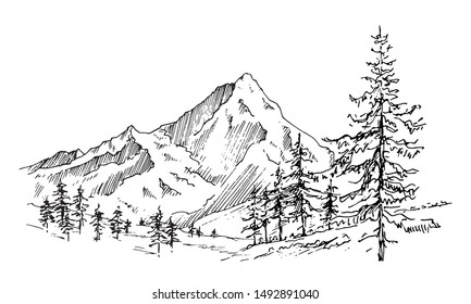 How To Draw Mountains Pinterest