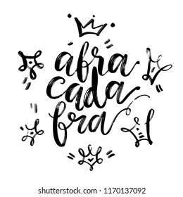 Hand drawn vector lettering. Abracadabra word by hand. Isolated vector illustration. Handwritten modern calligraphy. Inscription for postcards, posters, greeting cards and t-shirt prints.