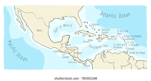 Panama Mexico Map.Mexico To Panama Map Stock Vectors Images Vector Art Shutterstock