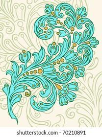 Hand Drawn Vector Paisley Design
