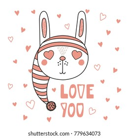 Greeting Card Valentines Day Cat Angel Stock Vector Royalty Free