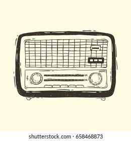 Old Radio Vector Images, Stock Photos & Vectors   Shutterstock
