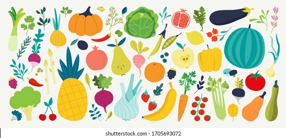 Hand drawn vegetables. Veggies nutrition doodle, organic vegan food and vegetable doodles. Tasty organic vegetarian veggies. Vector illustration isolated symbols set