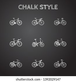 Hand drawn velocipede sketches set. Collection of cyclocross drive, retro wheel, old style and other sketch elements.