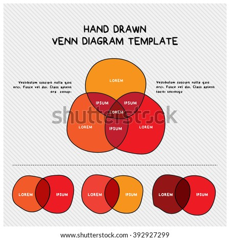 Hand Drawn Venn Diagram Template Stock Vector Royalty Free