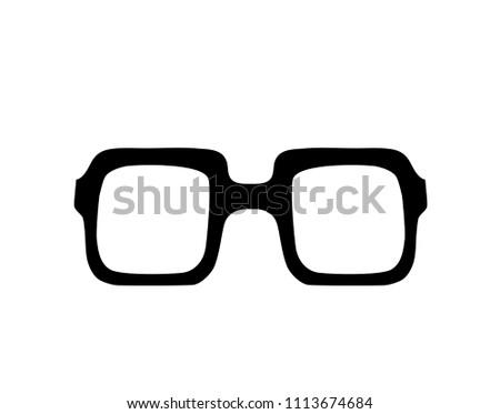 9d3aafe11d0 Hand Drawn Vintage Glasses Illustration Silhouette Stock Vector ...