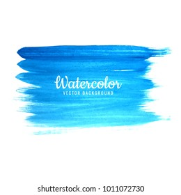 Hand drawn watercolor stroke blue shade background