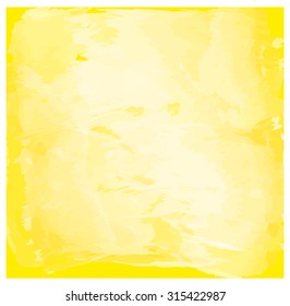 Hand drawn Watercolor yellow background