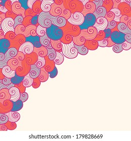 Hand drawn wavy modern background. Can be used to wallpaper, decorative paper, cards, web design, etc.