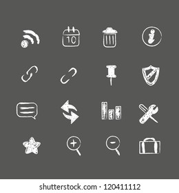 Hand drawn web icons. Layered file. High res jpeg included.
