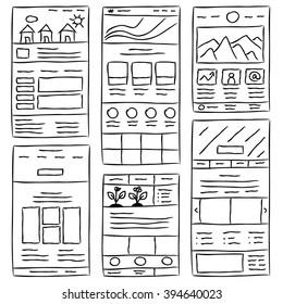 Vectores, imágenes y arte vectorial de stock sobre Sketch Ui