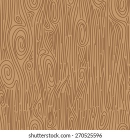 Hand drawn wood grain. Seamless vector pattern.