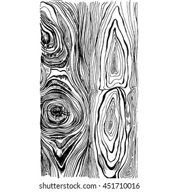 Hand drawn wood texture. Ink illustration in vintage engraved style