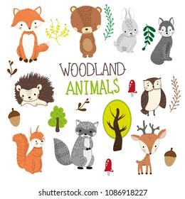 photograph regarding Free Printable Woodland Animal Templates named Woodland Pets Visuals, Inventory Images Vectors Shutterstock