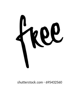 Free word art templates images stock photos vectors shutterstock hand drawn word free lettering design for posters t shirts cards maxwellsz