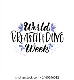 World Breastfeeding Week Logo Images Stock Photos Vectors