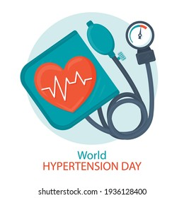 Hand drawn world hypertension day illustration Vector illustration.