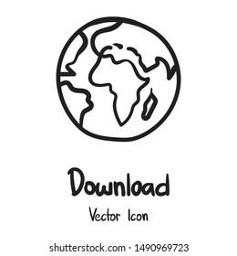 Hand Drawn World Planet Icon