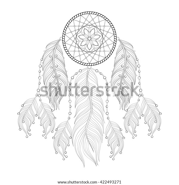 This is a picture of Revered Printable Adult Coloring Pages Dream Catchers