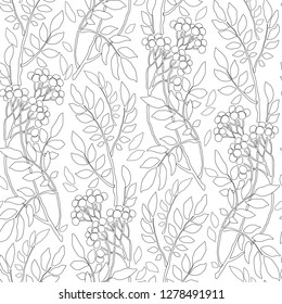 Hand drawn zentangle flower ornament for adult antistress. Coloring book page with high details isolated on white background. Floral seamless pattern.