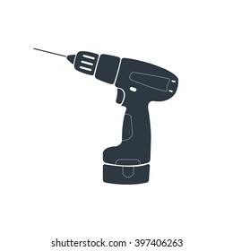 Hand drill icon. Vector illustration