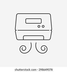 Hand dryer line icon