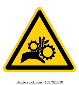Hand Entanglement Rotating Gears Symbol Sign, Vector Illustration, Isolate On White Background Label .EPS10