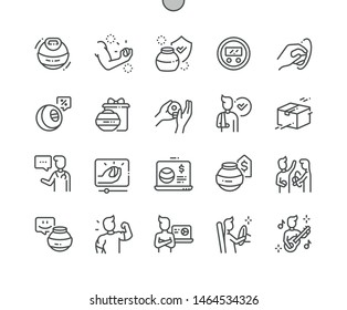 Hand expander Well-crafted Pixel Perfect Vector Thin Line Icons 30 2x Grid for Web Graphics and Apps. Simple Minimal Pictogram