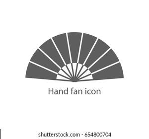 hand fan icon vector