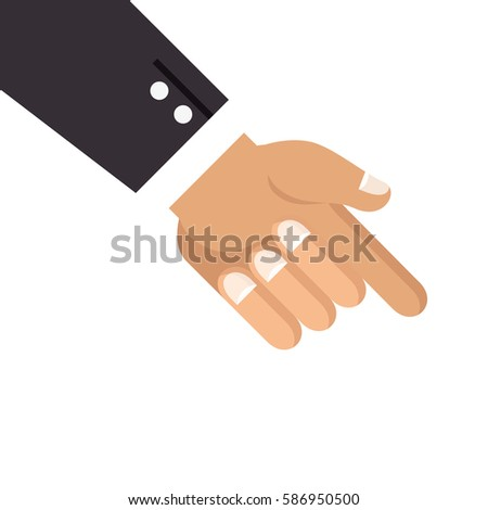 Hand Finger Pointing Down Stock Vector Royalty Free 586950500