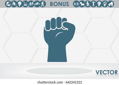 Hand, fist icon vector