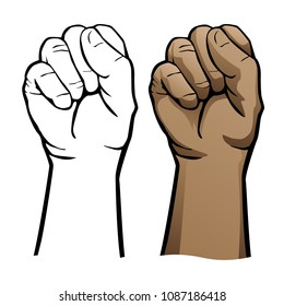 Hand Fist Vector Illustration
