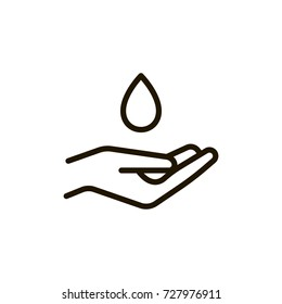 Hand flat icon. Single high quality outline symbol of spa for web design or mobile app. Thin line signs of beauty for design logo, visit card, etc. Outline logo of massage