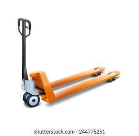 Hand forklift isolated on white background (vector)