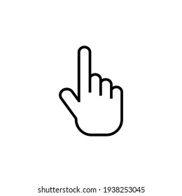 Hand gesture  icon design template vector isolated