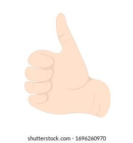 thumb cartoon images stock photos vectors shutterstock https www shutterstock com image vector hand gesture wrist fingers sign like 1696260970