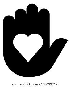 Hand Giving Heart Vector Icon