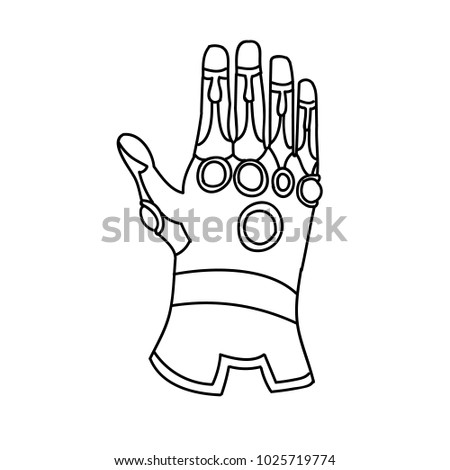 Hand glove with cosmic
