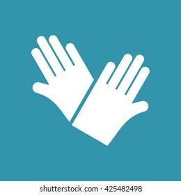 Hand Gloves Icon. Eps-10.