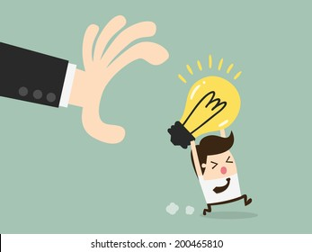 hand grabbing light bulb