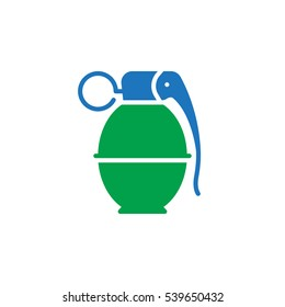 Hand grenade icon vector, filled flat sign, solid colorful pictogram isolated on white. Symbol, logo illustration