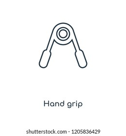Hand grip concept line icon. Linear Hand grip concept outline symbol design. This simple element illustration can be used for web and mobile UI/UX.
