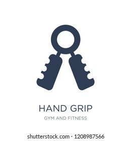Hand grip icon. Trendy flat vector Hand grip icon on white background from Gym and fitness collection, vector illustration can be use for web and mobile, eps10