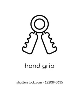 Hand grip icon. Trendy modern flat linear vector Hand grip icon on white background from thin line Gym and fitness collection, editable outline stroke vector illustration