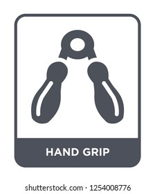 hand grip icon vector on white background, hand grip trendy filled icons from Gym equipment collection, hand grip simple element illustration