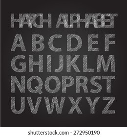hand hatched upper case font alphabet for summer season works
